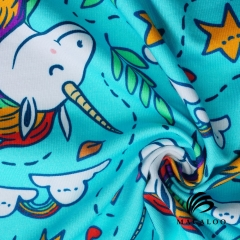 Custom print cotton spandex fabric